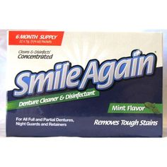 Protech Smile Again Denture Cleaner (22 Packets) (22 packets), Brown coffee