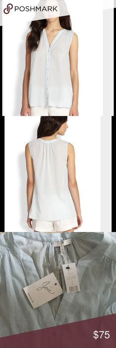 NWT JOIE garnier b button down crepe tank top New Brand new. 100% cotton. C01-24223b Joie Tops Button Down Shirts