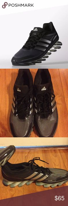 Adidas Spring Blade Men's Running/Training Shoes EUC Only wore Once! Adidas Techfit Running/Cross Training Spring Blade Shoes. Size 14. Black, Gray & Silver. #G66648. Sorry No Box, Thanks for Stopping by! Bundle & Save! Adidas Shoes Athletic Shoes