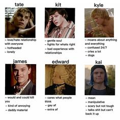 """483 Likes, 44 Comments - 《 American Horror Story 》 (@baoboodaddy) on Instagram: """"tag yourself, i'm tate, kyle, but mostly edward"""""""
