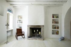 living-rooms-light-wood-white-bookcases-books-bookshelves-built-in-furniture-candles