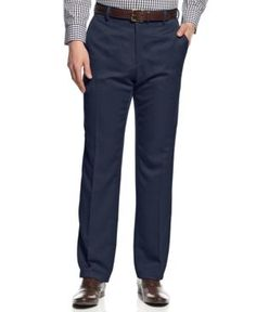 Kenneth Cole Reaction Slim-Fit Urban Dress Pants - Blue 34x29