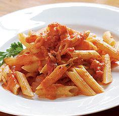 Penne with Tomato Vodka Cream Sauce Recipe #pasta #recipe