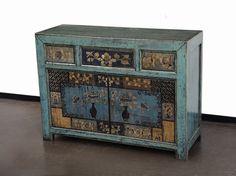 000c7a797023a0 meubles chinois · Bleu meuble mongol à 2 portes et 3 tiroirs avec tablettes  intérieures et les… Meuble