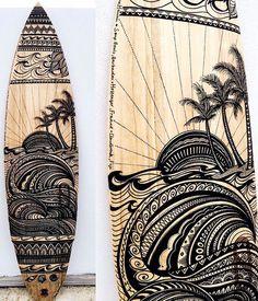 Girl With A Surfboard Surfboard Surfboard Art Surf Design