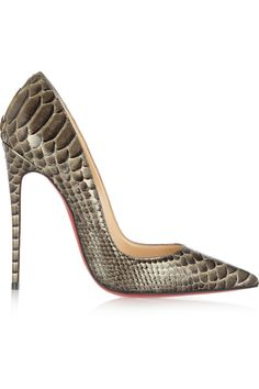 Christian Louboutin|So Kate 120 python pumps