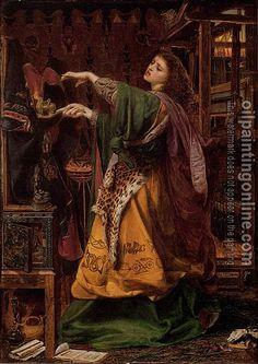 Morgan le Fay (1864). Anthony F. A. Sandys. Birmingham Art Gallery