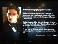 Richards biography on playing Thornton
