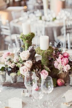 Glamorous Garden Wedding Centerpiece