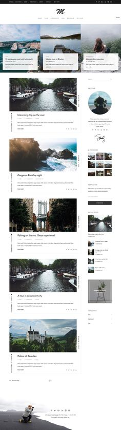 TheM - Minimal Creative WordPress Blog Theme (Demo 1). Live Preview & Download: https://themeforest.net/item/them-minimal-creative-wordpress-blog-theme/15938766?ref=ksioks