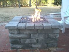 gas fire pit (I don't usually like gas fires outdoors but this one is nicely constructed)