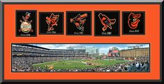 Baltimore Orioles Oriole Park at Camden Yards Framed & Double Matted With Baltimore Orioles Wool Felt Logos