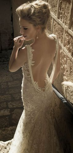 Galia Lahav 's Backless Wedding Gown - one of many Seriously HAWT and Unbelievable Backless Wedding Dresses 2014 Wedding Dresses 2014, Designer Wedding Dresses, Sophisticated Bride, Mod Wedding, Dream Wedding, Wedding Ideas, Wedding Blog, Perfect Wedding, Trendy Wedding