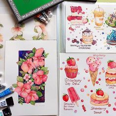 I bought a new folder for my pictures~ #artist #art #art #drawings #drawing #watercolor #watercolour #watercolours #watercolourpaint #watercolorpainting #drawing #design #flower #flowers #pink #originals #originalart #food #icecream #inspiration #illustrator #illustration #illustration #illustrations