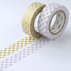 Gold x Lilac Dots - mt Washi Tape Duo from omiyage.ca