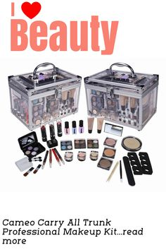 The Cameo Carry All Trunk Professional Makeup Kit is designed with beauty beginners in mind. The set features more than 30 individual products of highquality makeup. Fun yet functional, the kit includes a seethrough traveling case with silver finishes In addition to featuring face makeup, the versatile kit includes nail essentials, which will allow you to DIY some fun manicures and pedicures. ... Pedicures, Manicure And Pedicure, Professional Makeup Kit, Makeup Sets, My Beauty, Some Fun, Carry On, Face Makeup, Trunks