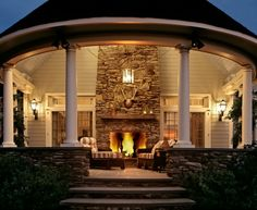 One of my favorite outdoor fireplaces  - James Crisp Architects