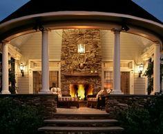 love, love, loveback porch fireplace! yes pleaseeee! | home