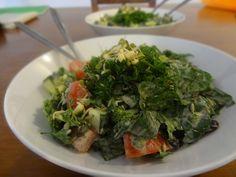 Raw Vegan Parsley Tomato Salad with Fennel Tahini Dressing