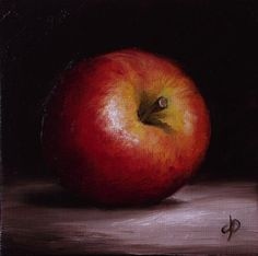 "Daily Paintworks - ""Little Braeburn Apple"" by Jane Palmer"