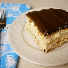 """Eclair Cake I """" It is a great recipe for children who are learning to cook, there is no baking involved or any power kitchen tools. Just a bowl and a spoon!"""""""