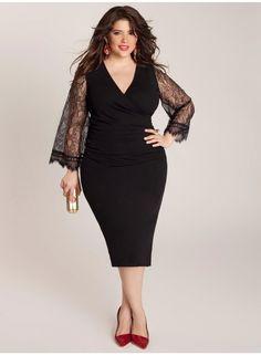 Vestido fiesta negro. #Curvy. #TallasGrandes. No te pierdas esta selección de looks y consejos para chicas con curvas.