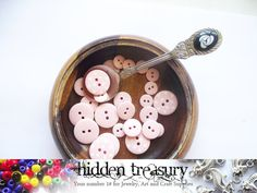 Plastic poke a dot buttons 26pc . Fun Colorful by HTCandyBeads, $1.50