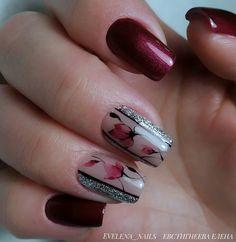 City Nails, Gelish Nails, Nail Candy, Diy Nail Designs, Cute Nail Art, Nail Bar, Flower Nails, Beauty Nails, Fun Nails