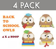 Back to School with OWL  4 cute owls on their way by TedandFriends