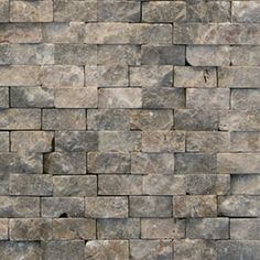 Shop Solistone Modern Brown Natural Stone Mosaic Subway Indoor/Outdoor Wall Tile (Common: x Actual: x at L. Slate Wall Tiles, Marble Subway Tiles, Mosaic Wall Tiles, Marble Wall, Marble Mosaic, Stone Mosaic, Outdoor Walls, Indoor Outdoor, Welcome To My House
