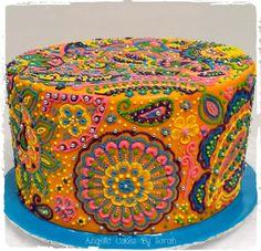 Bollywood Mehndi Cake - Cake by Angelic Cakes By Sarah