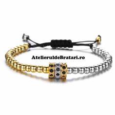 Bratara dama cu Argint 925 si Argint 925 placat cu Aur 18KT este impletita manual. Acest model de bratara de dama cu Argint .925 este ambalat intr-o cutie cadou sau un saculet de catifea. Bratara din Argint poate reprezenta cadoul ideal pentru o zi aniversara sau onomastica. Aur, Beaded Bracelets, Model, Jewelry, Jewlery, Jewerly, Pearl Bracelets, Scale Model, Schmuck