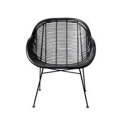 Bloomingville Braided Black Living Room Chair
