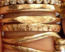 Geknoopte stapelen Ring - Mix en Match ringen - Russische Ring - gehamerd textuur Ring - Flower Ring - Ring Signet - handgemaakte - Venexia sieraden