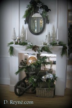 Decorating the mantle for the Season...Christmas is here!