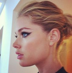 Doutzen Kroes' CFDA make up  I would look like a fool if I tried this