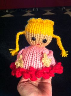 Reversible doll made with addi express.  Flowerprincess.