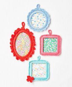 Free pattern @ Homemaker Magazine - Crochet frames