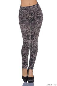 Abby leggings - Lækre leggings med blomster motiv. Lækker blødt stof med stræk. kr. 119,-