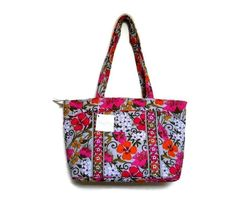 Mandy in Tea Garden, this pattern has retired from the Vera Bradley's collection.  This is a very popular handbag, make someone's Christmas Merry and Bright!
