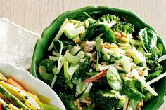 Add a little more health to waldorf salad with broccoli.