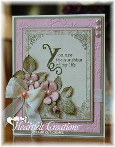By Kathleen Roney - My favorite designer. Heartfelt Creations | Botanical Sunshine Card