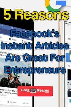 Facebook's Instant Articles is Powerful for Content Marketers! However, not many Entrepreneurs know the power of this platform and the positive results realized by leveraging it. As a result, I decided to share the top 5 reasons Facebook's Instant Articles is awesome! Free Training Programs, Content Tools, Achieve Your Goals, I Decided, Entrepreneur, Articles, Platform, Positivity, Marketing