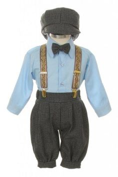 Vintage Dress Suit-Bowtie,Suspenders,Knickers Outfit Set for Baby Boys & Toddler, Houndstooth-Blue-6 Months SK,http://www.amazon.com/dp/B00D4YFY4G/ref=cm_sw_r_pi_dp_x9f5sb1HJPK90D4S