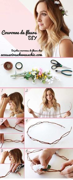 If there's one accessory you cannot skip for your festival look, it's the highly popular flower crown. A classic which takes your outfit from meh to woah. A DIY flower crown is exactly what you need for an undeniably elegant and chic look! Flower Crown Tutorial, Diy Flower Crown, Diy Crown, Flower Crowns, Diy Flowers, Fresh Flowers, Flower Headbands, Flower Hair, Baby Headbands