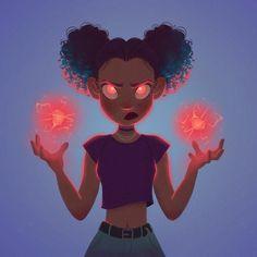 character art Art by Aveline Stokart - Album - art Cartoon Kunst, Anime Kunst, Cartoon Art Styles, Cute Art Styles, Black Girl Art, Art Girl, Black Art, Fantasy Kunst, Fantasy Art