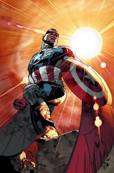 The new Captain America will be Sam Wilson, formerly known as the Falcon, who takes over for his mentor in the upcoming 'All-New Captain Ame...