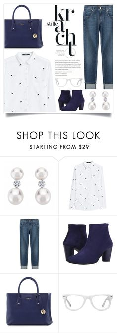 """WHite & Blue Please!"" by sweet-jolly-looks ❤ liked on Polyvore featuring мода, MANGO, 7 For All Mankind, Arche, Furla, Muse, blouses, outfits и zappos"