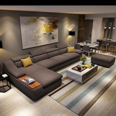 Online Shop living room furniture modern L shaped fabric corner sectional sofa s., Shop living room furniture modern L shaped fabric corner sectional sofa set design couches for living room with chaise longue ottoman Buy Living Room Furniture, Living Room Sofa Design, Couch Design, Room Furniture Design, Living Room Interior, Living Room Designs, Corner Sofa Design, Furniture Sets, Sofa Furniture