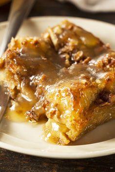 Recipe including course(s): Dessert; and ingredients: brandy, bread, brown sugar, butter, egg, milk, pecans, sugar, vanilla extract